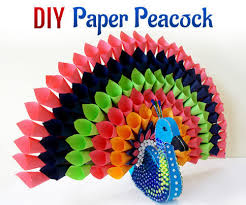 DIY Paper Craft Project How To Make Multicolored Peacock For Home Decor