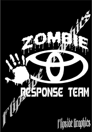 Custom Zombie Response Decal Toyota Trucks Cars Windows Bumper ...