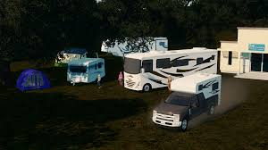 Class A Camper And Pickup Truck Camper Also Out For Patrons ...
