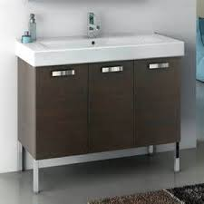40 Inch Vanity Cabinet With Fitted Sink Contemporary Bathroom Vanities