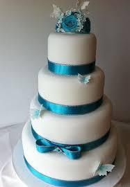 Beautiful White And Blue Wedding Cakes 9 Weddings Eve