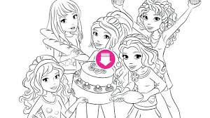 Enchanting Lego Friends Coloring Pages To Print Best Of Latest Downloads Cupcake Party Kids