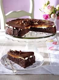 daim brownietorte rezept lecker kuchen und torten