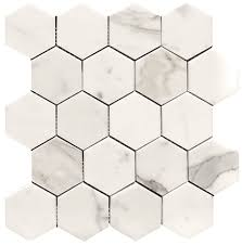 gold italian marble 3 hexagon honed mosaic tile