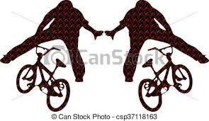 Bicycles Silhouettes Bmx Clip Art Vector