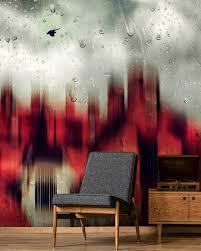 schwarze und rote tapete für alle räume wallsauce de