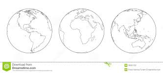 Globes Outline stock vector Illustration of sphere ecology