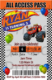 Birthday Invitation, Blaze And The Monster Machines Theme Birthday Cards Boys Monster Trucks Truck Nestling Party Invitations Invitation Examples Truck Racing Car 2 3 Etsy 13 Best Jam Inspirational Amazon Lovely Cyclops 19 Mormotanet Pink Svg File With Hearts To Make Shirts Invitations Invite Naptime Serenity Invites Unique Of Blaze And The Templates Free Printable Free