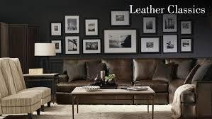 Bernhardt Upholstery Foster Sofa by Leather Classics Bernhardt