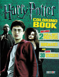 Harry Potter Coloring Book With Over 30 Stickers 2 Pull Out Posters