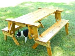 Collapsible Wooden Picnic Table Plans by Folding Picnic Table Bench By Eddie Lumberjocks Com