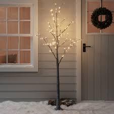 18m Warm White Pre Lit Christmas Twig Tree