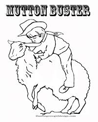 Rodeo Coloring Pages Cowboy Sheet Kid Mutton Bustin Adult Medium Size