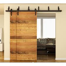 183cm / 200cm / 244cm Bypass Sliding Barn Wood Door Hardware ... 75 8 10 12 13 15 Ft Antique Black Wooden Double Sliding Barn 82ft Closet Door Heavy Adjustable Bypass Spanbarn Hdware Systemspan Beautiful This Is A American Pro Decor Solid Steel Rolling Backyards Featured Image Lowes Installation Traditional Kit Hingeless And Mmi 72 In X 80 Primed 15lite With Double For Two Doors Track