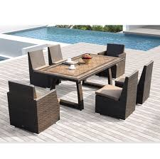 Sirio Patio Furniture Covers by Sirio Niko 7 Piece Patio Furniture Dining Set Camel Amazon Ca