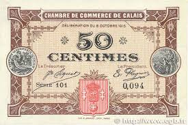 chambre de commerce de calais 50 centimes regionalism and miscellaneous calais 1915 jp