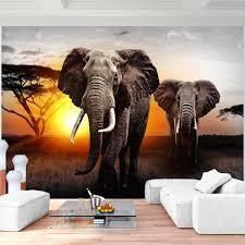 afrika elefant vlies foto wandtapete dekoration runa 9236ap