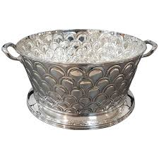 20th Century Italian Silver Round Basket With Handles Handicraft Made In Italy For Sale