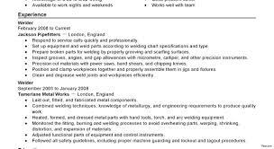Welder Resume Objective Examples