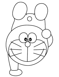Doraemon Handstand Exercise Coloring Page