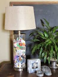 Fillable Table Lamp Base by Cool Fill A Glass Lamp Base With Sea Shells And Set A Picture Of