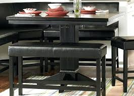 High Top Table With Bench Corner Black Dining Room Set And Pedestal Large