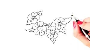 Flower Drawings Easy How To Draw Beautiful Flowers Easy And Simple Drawing – Youtube