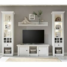 details zu tv mediawand wohnzimmer möbel in pinie weiß landhaus vitrinen lowboard wandboard