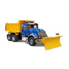 100 Rc Truck Snow Plow Bruder MACK Granite Dump With Blade Walmartcom
