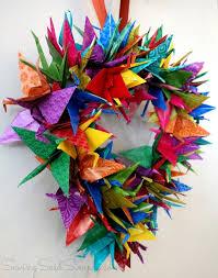 Origami Crane Wreath Craft Tutorial
