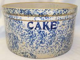 Old Antique Blue & White Spongeware Spatterware Stoneware