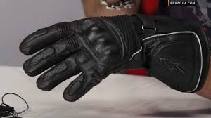 alpinestars tech heated gloves review at revzilla com youtube