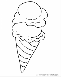 Astonishing Ideas Ice Cream Cone Coloring Page Cup Pages Peppa Pig