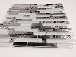 sle bliss iceland marble and glass linear mosaic tiles for