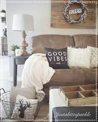 Brown Couch Decor Living Room by Rustic Living Room Cozy Pallets Our Home Pinterest