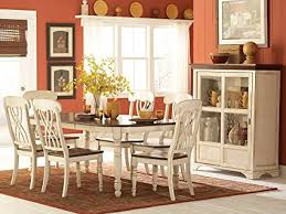 Amazon Homelegance Ohana 7 Piece Dining Table Set in White Warm