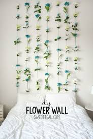 Diy Decorations For Bedroom Glamorous Design Floral Room Decor Bedrooms Wall