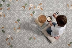 Drop Patterned Concrete Tiles by Mut Design CERAMICS