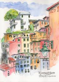 Christmas Tree Lane Alameda by Exploring The Cinque Terre By Boat Urban Sketchers