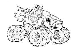 100 Monster Truck Coloring Book Page Free Printable For Kids 12791