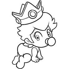 Baby Princess Peach Mario Kart Wii Coloring Pages
