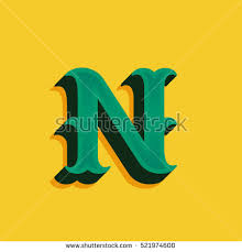 Decorative Letter N Stock Royalty Free & Vectors