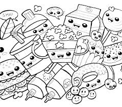 Kawaii Coloring Pages To Download And