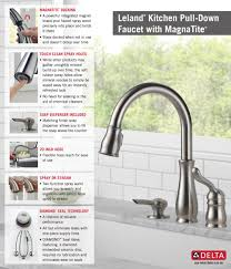 Delta Linden Kitchen Faucet Home Depot by Delta Leland Kitchen Faucet Home Decorating Interior Design