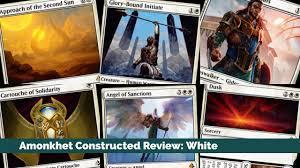 Standard Mtg Decks Amonkhet by Amonkhet Constructed Review White Youtube