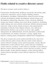 Director Resume Samples Creative Resumes Sample Examples Hr