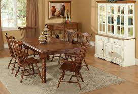 TEI Solid Wood Dining Room Set With Hutch