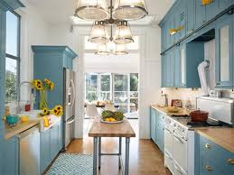 Bright Kitchen Opened Up To The Sun Galley Is Now Blue And