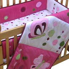Lambs & Ivy Raspberry Swirl Butterfly 3 Piece Mini Crib Bedding