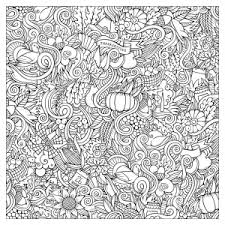 Coloring Adult Thanksgiving Square Doodle By Olga Kostenko Free